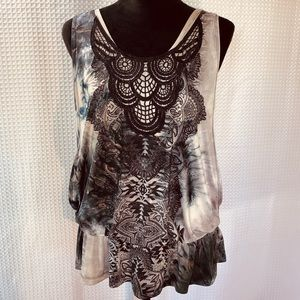 Live & Let Live Embroidered & Patterned Layer Top